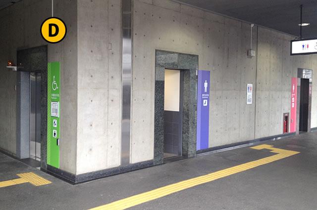 JR京都駅0番線ホームのトイレ