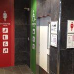JR京都駅、南北連絡通路のトイレ