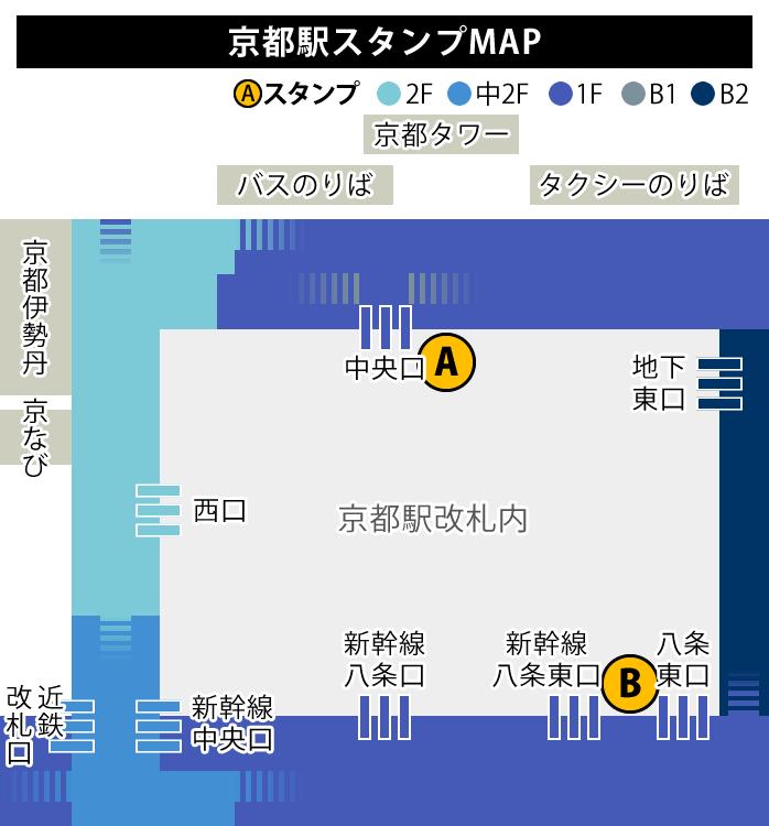 JR京都駅のスタンプ置き場