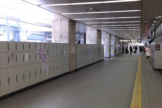 JR京都駅のコインロッカー
